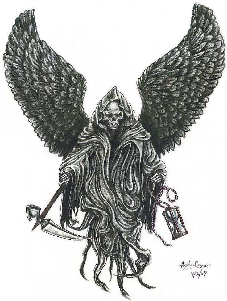 Drawn grim reaper angel wing Pinterest Love Reaper For best
