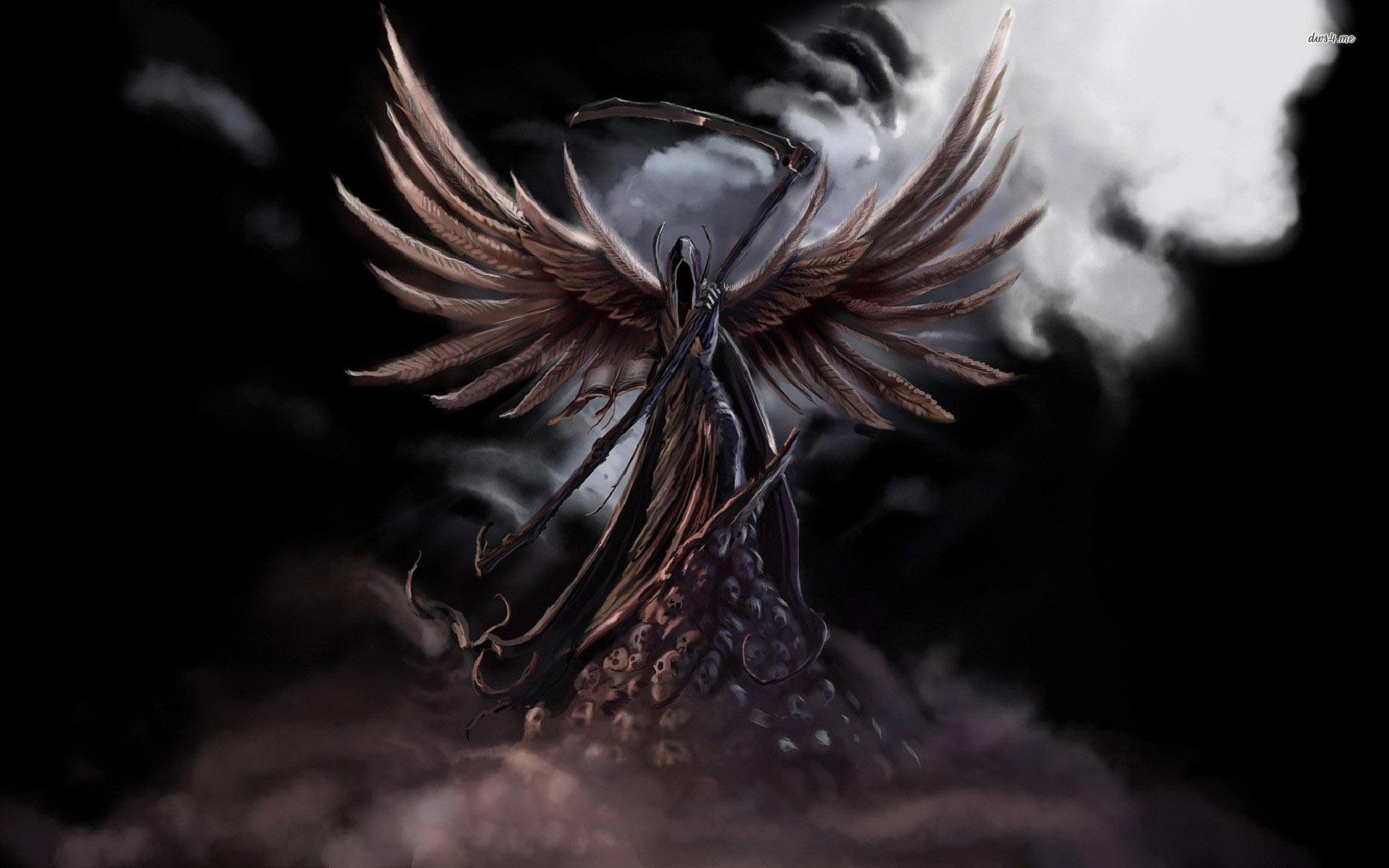 Drawn grim reaper angel wing Reaper Wings With Grim Wings