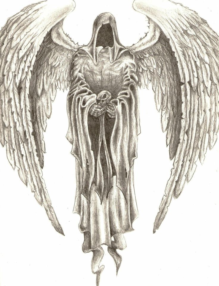 Drawn skeleton angel Of Tattoos drawing Search winged