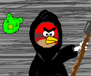 Drawn grim reaper angry Angry grim reaper (drawing bird