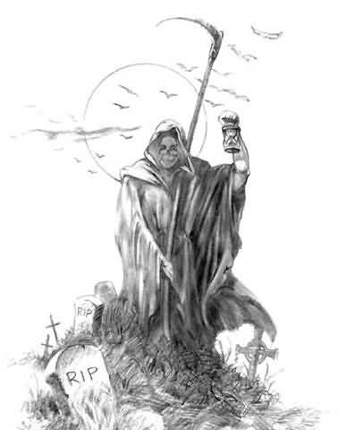 Drawn grim reaper angry Grim Grim Tattoos Drawing Tattoo