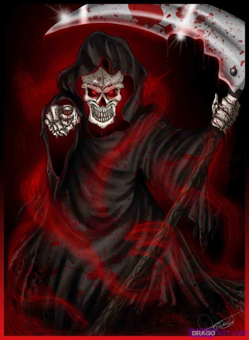 Drawn grim reaper angry Awesome the reaper reapers Reaper