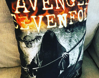 Drawn grim reaper avenged sevenfold Pillow Throw Grim Avenged Reaper