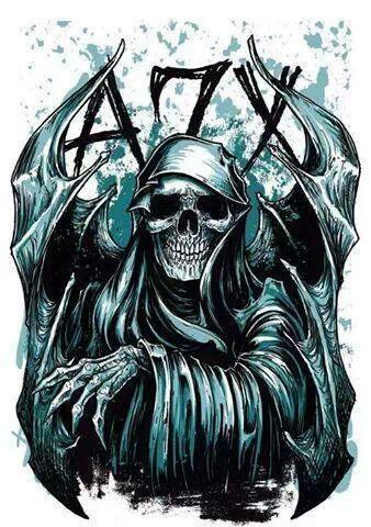 Drawn grim reaper avenged sevenfold Sevenfold Avenged deathbat on art