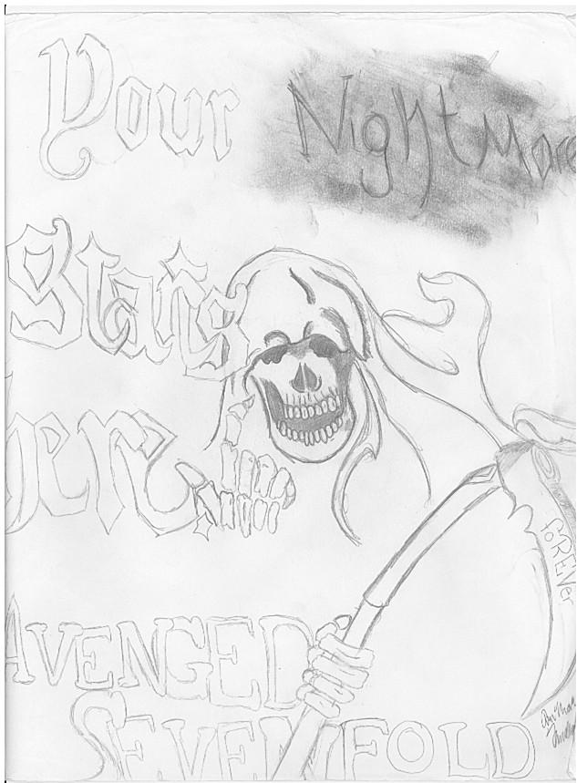 Drawn grim reaper avenged sevenfold Nightmare Sevenfold Sevenfold DeviantArt Reaper
