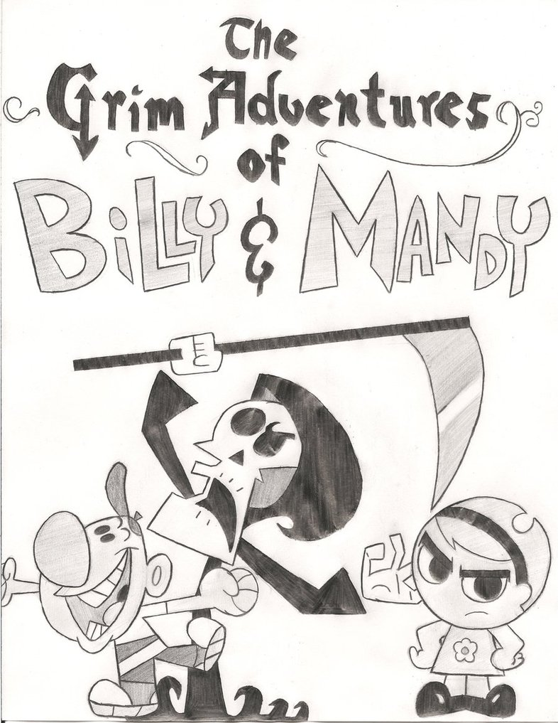 Drawn grim reaper billy and mandy By and TheAljavis Grim Billy