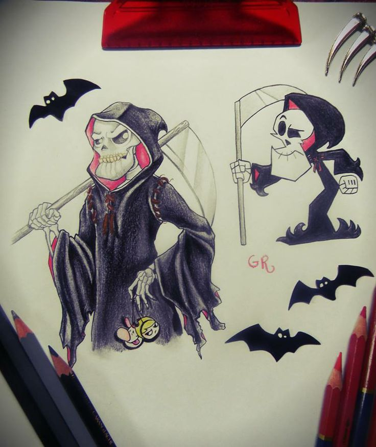 Drawn grim reaper billy and mandy Adventures best images Pinterest Adventures
