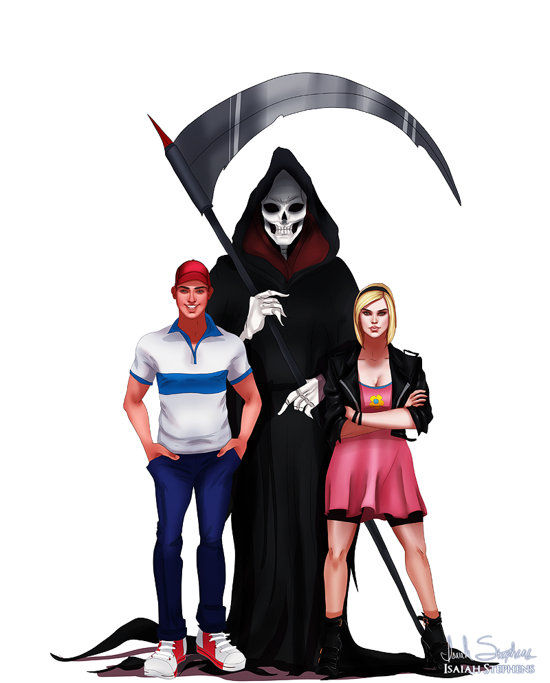 Drawn grim reaper billy and mandy IsaiahStephens by DeviantArt Grown and