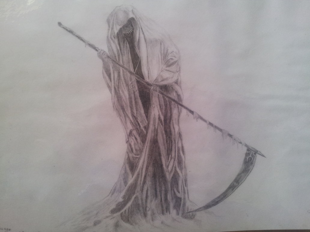 Drawn grim reaper bone wing drawing Drawing  Grim Awesome Drawing