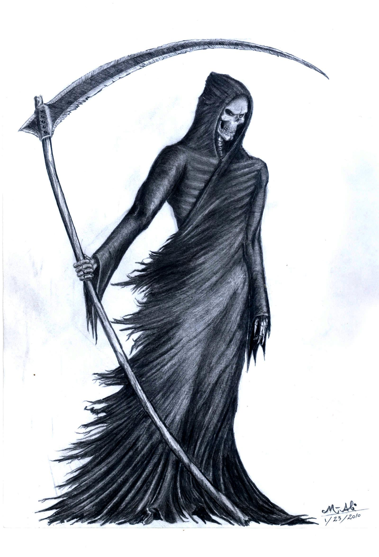 Drawn grim reaper bone wing drawing Deviantart Grim  com GrimShady