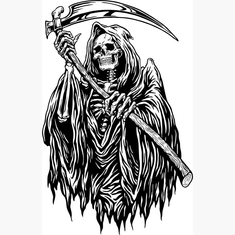 Drawn grim reaper boy More Picture Living Scythe Adesivo