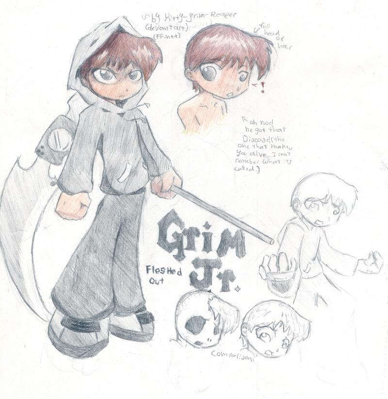 Drawn grim reaper boy Reaper Reaper Human? Kitty Human?