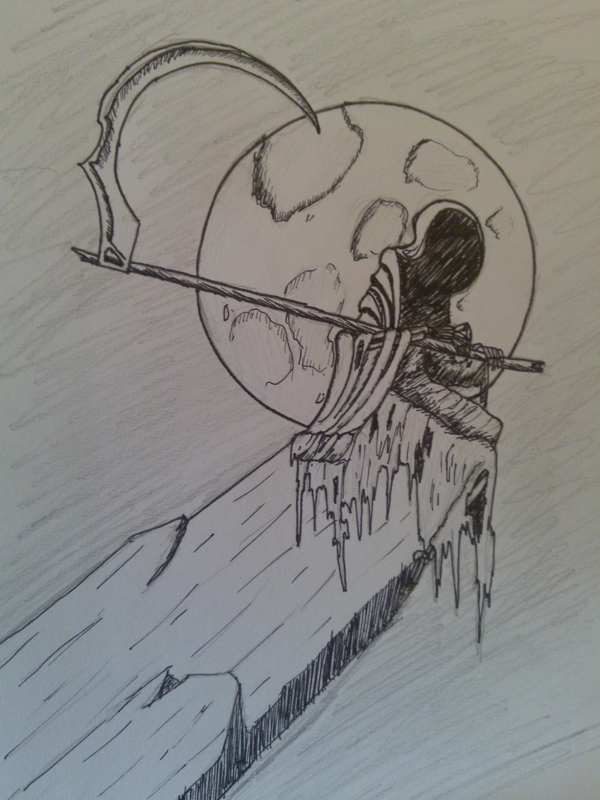 Drawn grim reaper boy © Grim On 24 Drawing