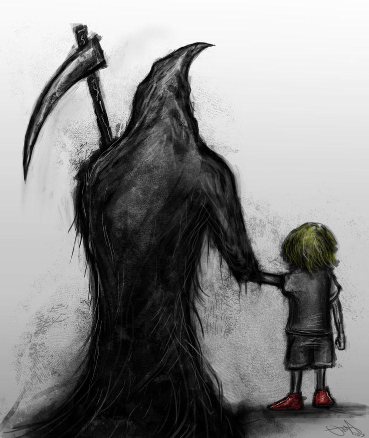 Drawn grim reaper boy Pinterest 187 Grim images The