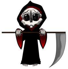 Drawn grim reaper chibi  detail Find ~HalloweenBloodyQueen Skull