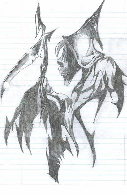 Drawn grim reaper chibi Chibi Grim Reaper kun2 on
