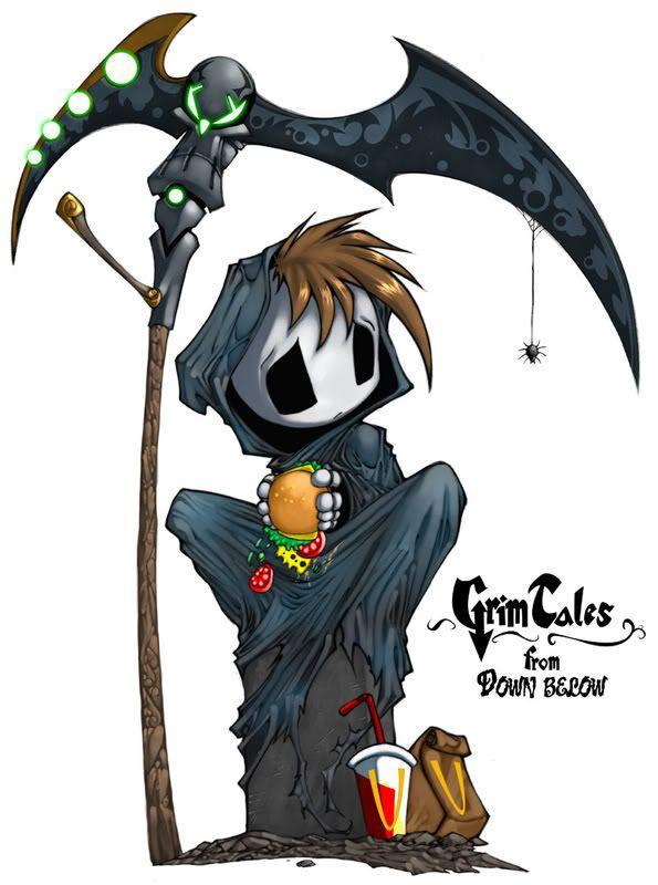 Drawn grim reaper chibi Images Cartoon about a Snafu