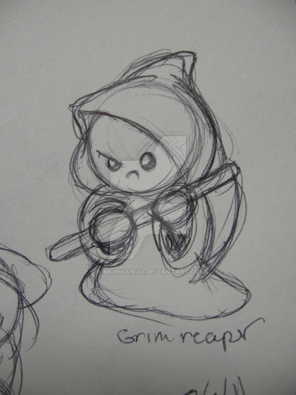 Drawn grim reaper chibi By Grim Reaper kimchikawaii on