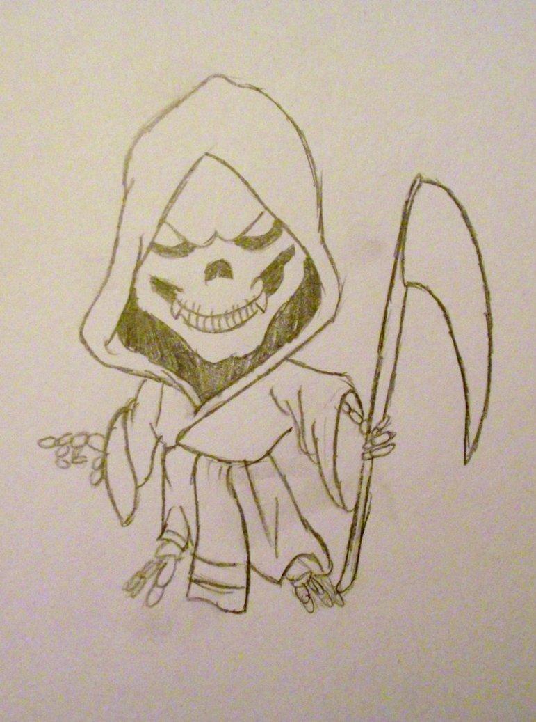 Drawn grim reaper chibi By chibi grim cjr12344 on