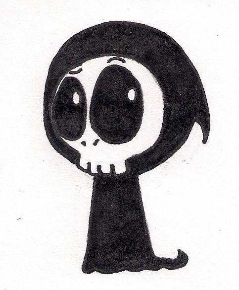 Drawn grim reaper chibi By Chibi Grim Sammku on