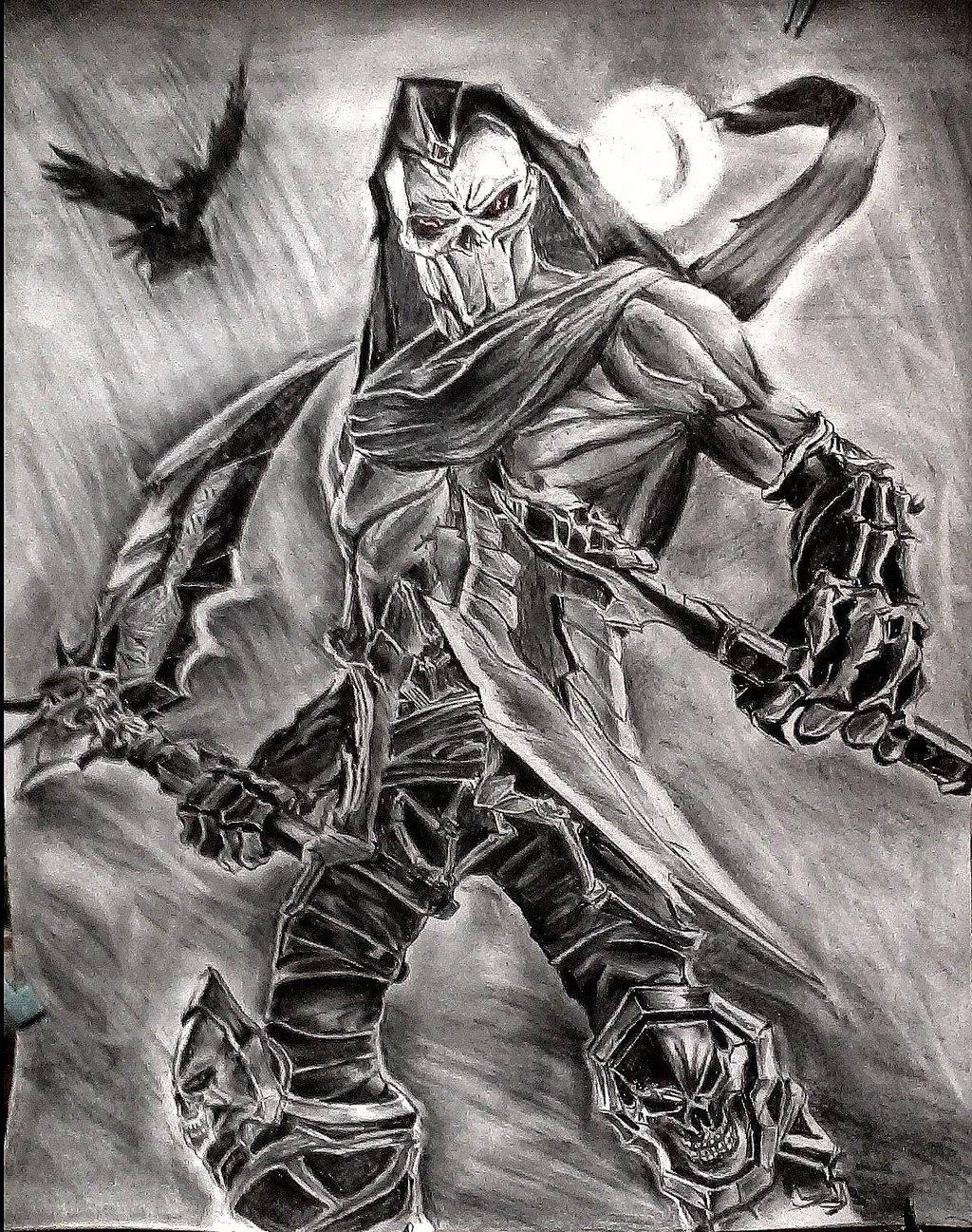 Drawn grim reaper death DEBOnation of Darksiders Grim by