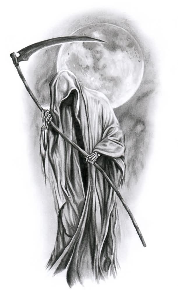 Drawn scythe angel Grim Design Google of Reaper