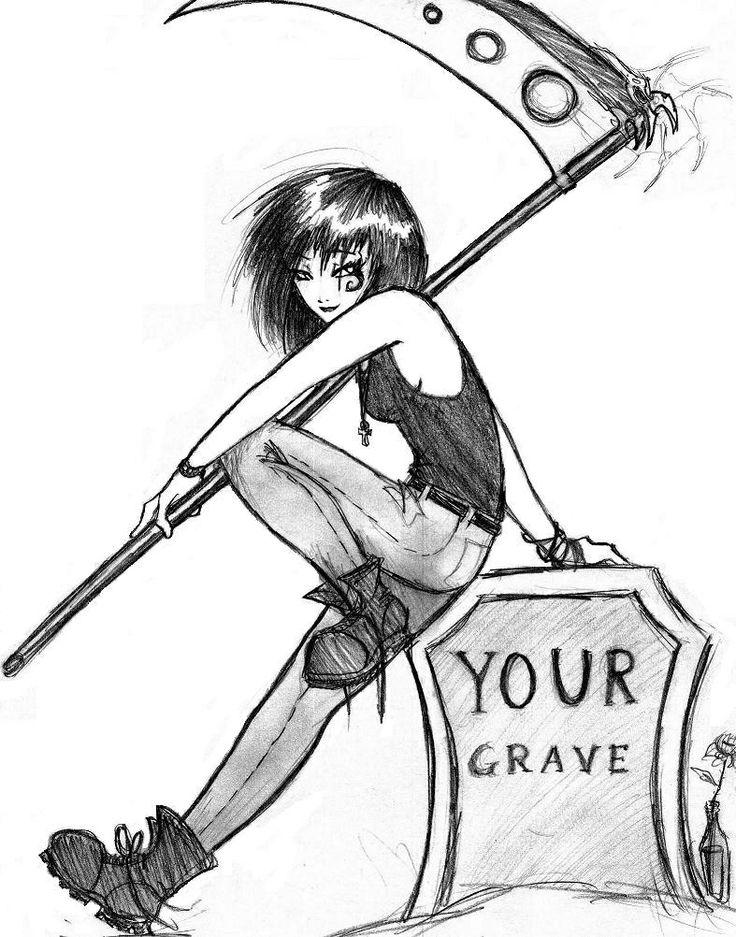 Drawn grim reaper death 17 female images Reaper Pinterest
