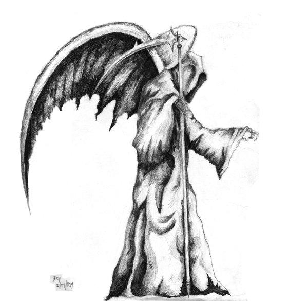 Drawn grim reaper death Drawing Grim Tattoobite Grim com