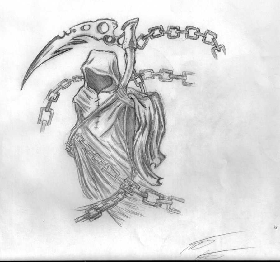 Drawn grim reaper death Flash: Tattoo Pictures Real Images