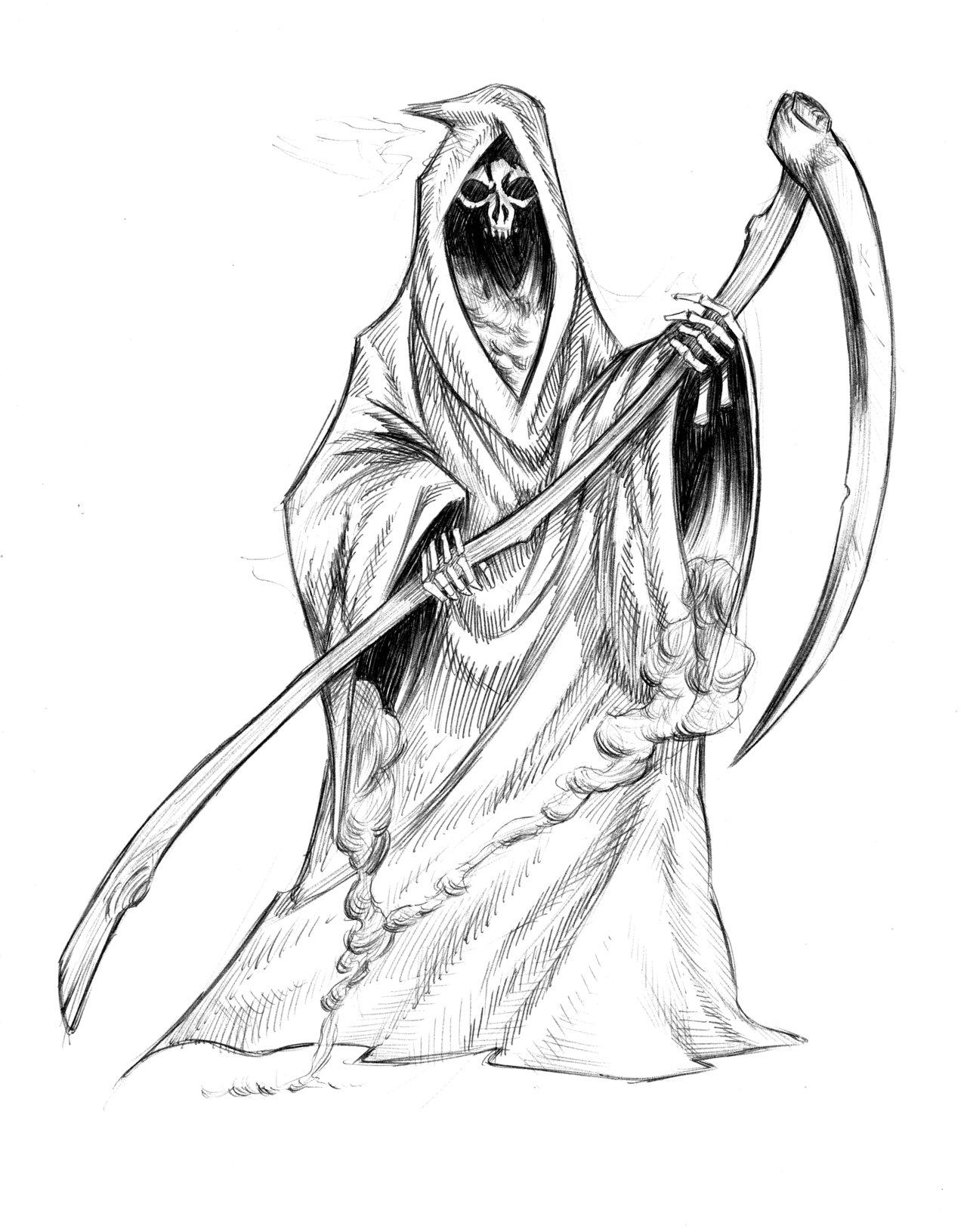 Drawn grim reaper detailed 1 Grim Grim 1 sketchbencky5