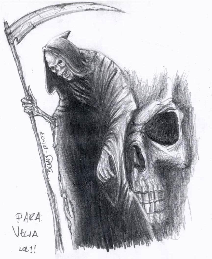 Drawn grim reaper detailed The Art: Grim art Images