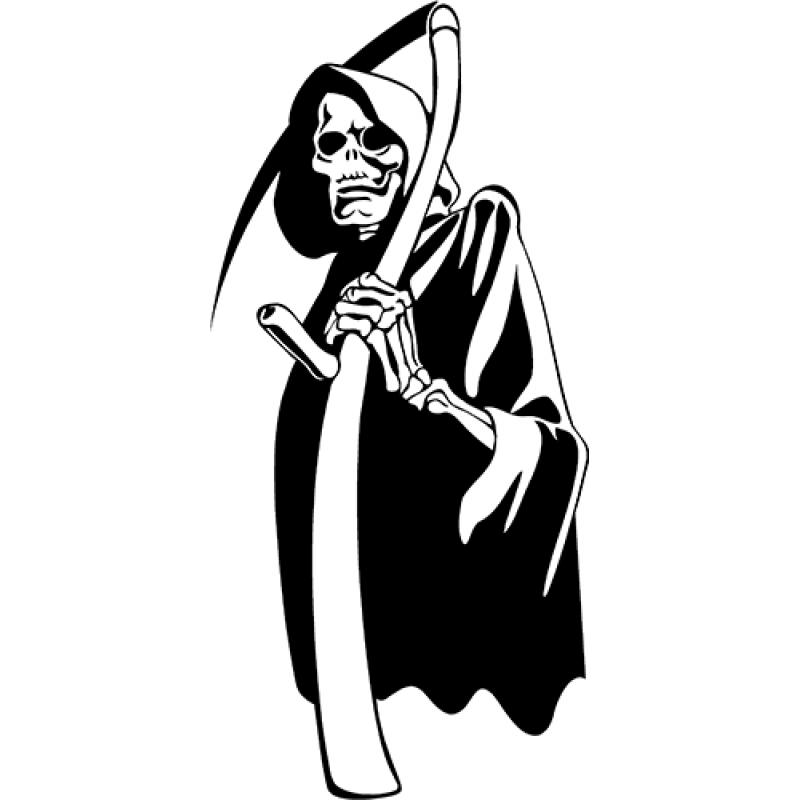 Drawn grim reaper detailed GRIM Reaper Sticker Decal Grim