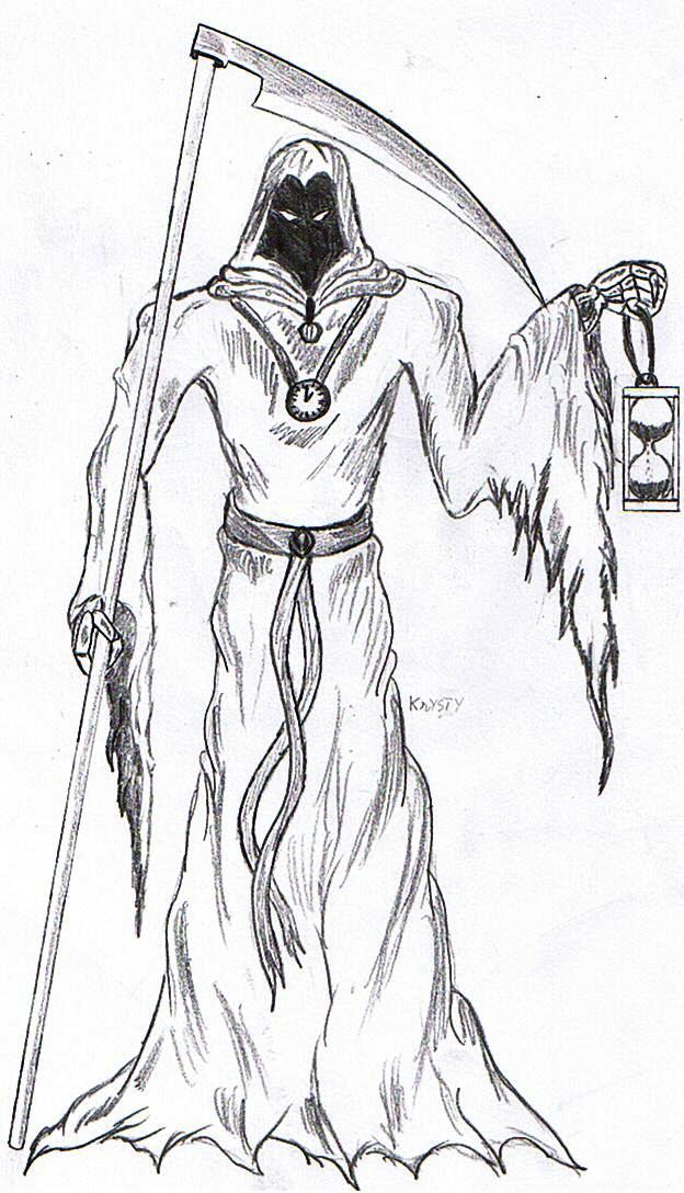 Drawn grim reaper detailed Reaper by Grim DragonMaster234 on
