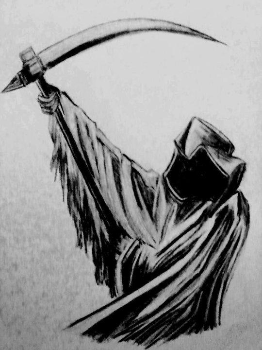 Drawn grim reaper detailed Pencil Drawings & Face Images