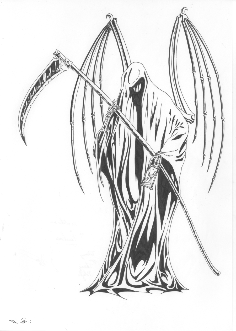 Drawn grim reaper detailed ⋆ and Grim Drawing 1