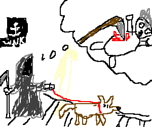 Drawn grim reaper dream Grim by Blind of Jay6424)