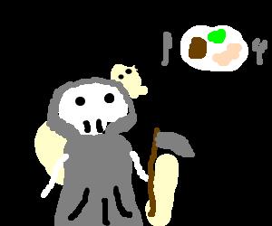 Drawn grim reaper dream Grim dinner dinner a (drawing