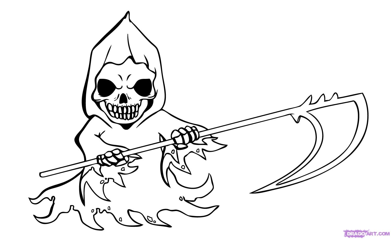 Drawn grim reaper easy  by chibi Step to