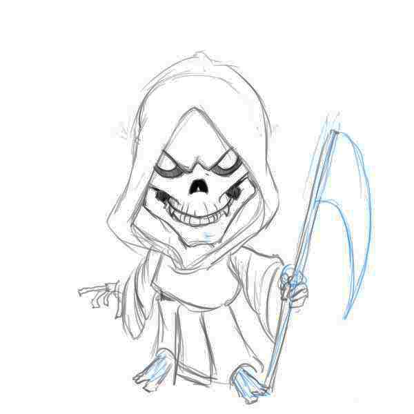 Drawn grim reaper easy Step reaper Grim drawings Factory