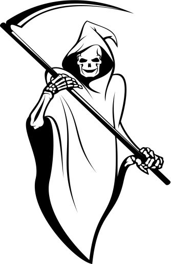 Drawn grim reaper easy Increase increase death of Thoughts