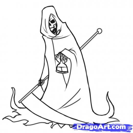 Drawn grim reaper easy The Pinterest to How Draw