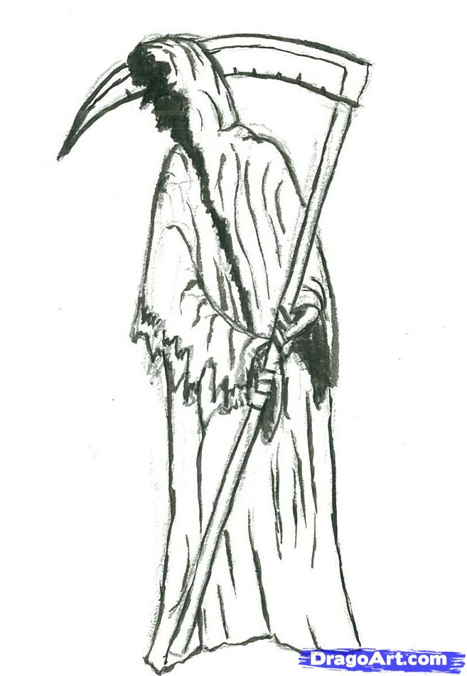 Drawn grim reaper easy By the Step to how