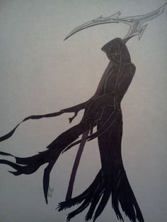 Drawn grim reaper female villain Http://mictones  By on reaper