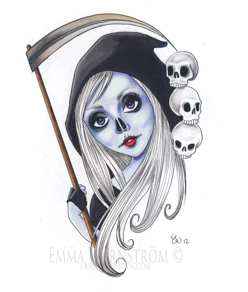 Drawn grim reaper female villain DeviantArt The reaper by grim