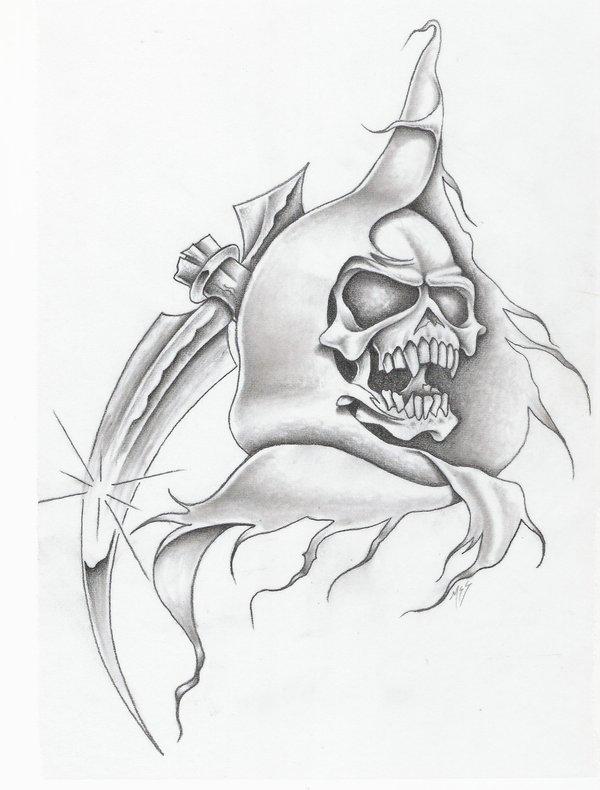 Drawn grim reaper graffiti Designs Reaper Design com Grim