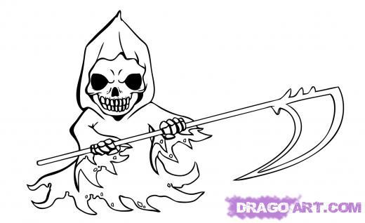 Drawn grim reaper graffiti Anime Grim Draw to Chibi