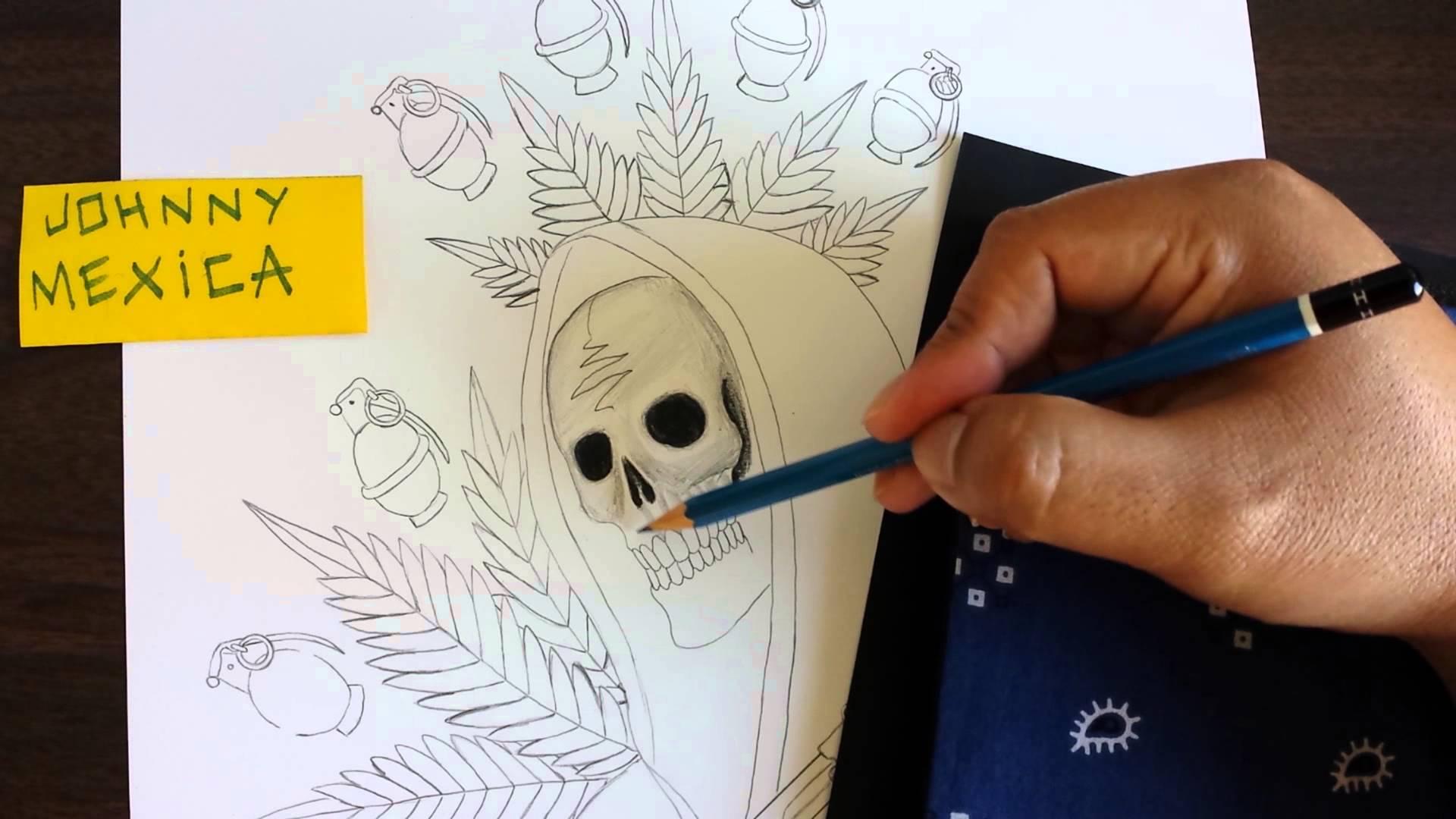 Drawn grim reaper graffiti How grim and reaper draw