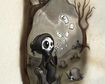 Drawn grim reaper grem Art Grim Bubble Print Loves