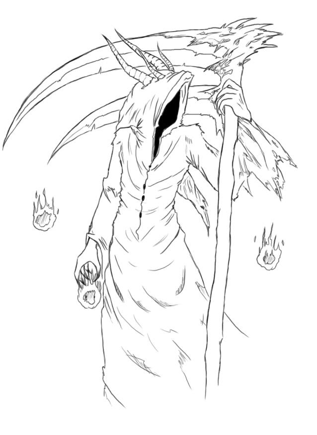 Drawn grim reaper grem Reaper Tattoo The Tattoo Grim