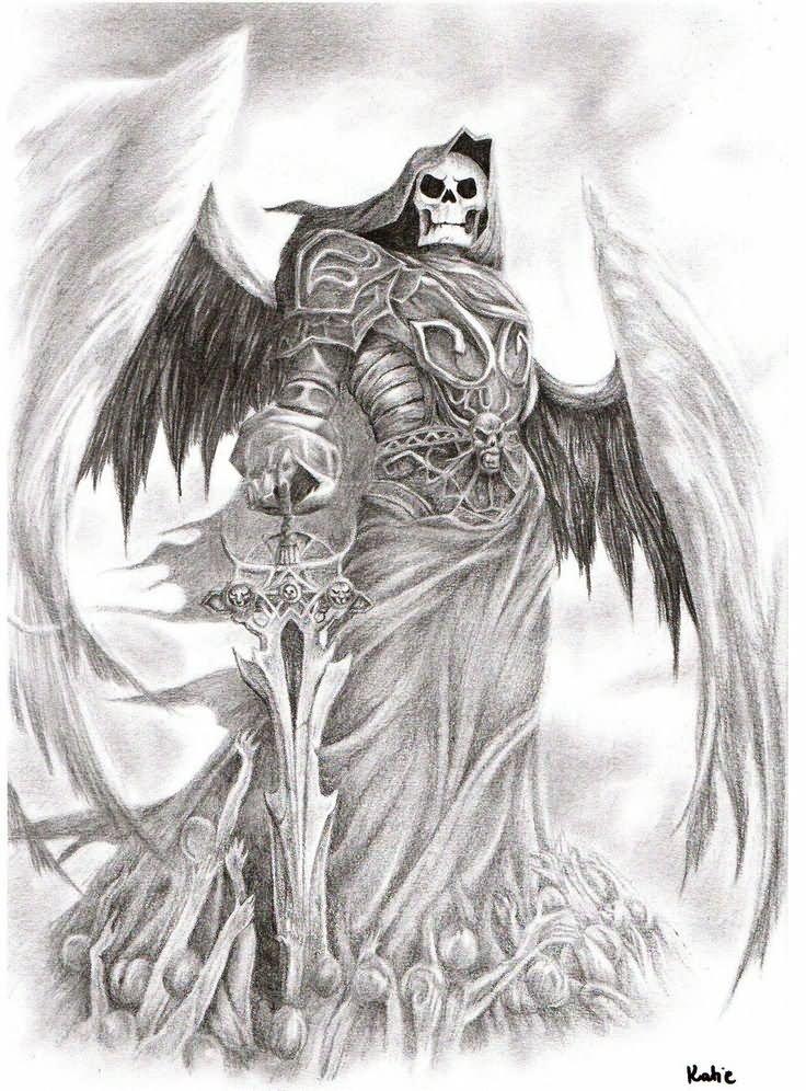 Drawn grim reaper grem And Grey (736×996) Grey Death